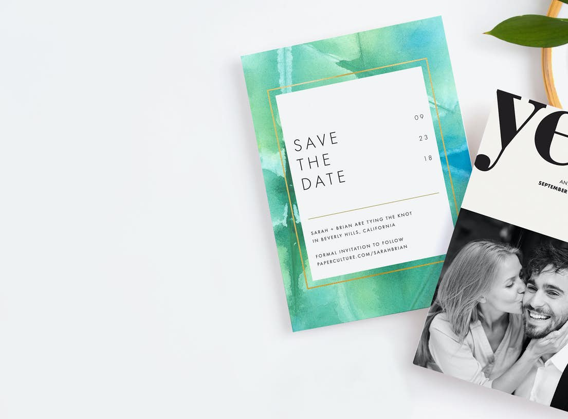 modern save the date cards paper culture