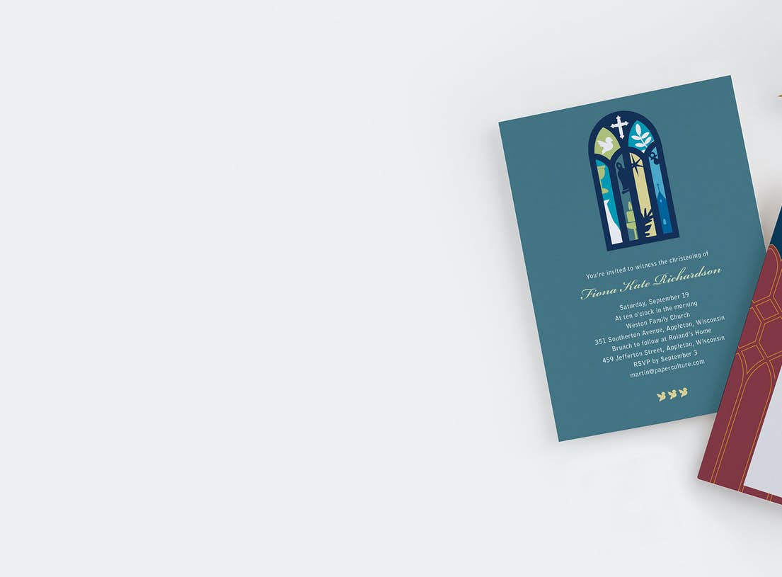 religious and cultural announcements cards and invitations paper