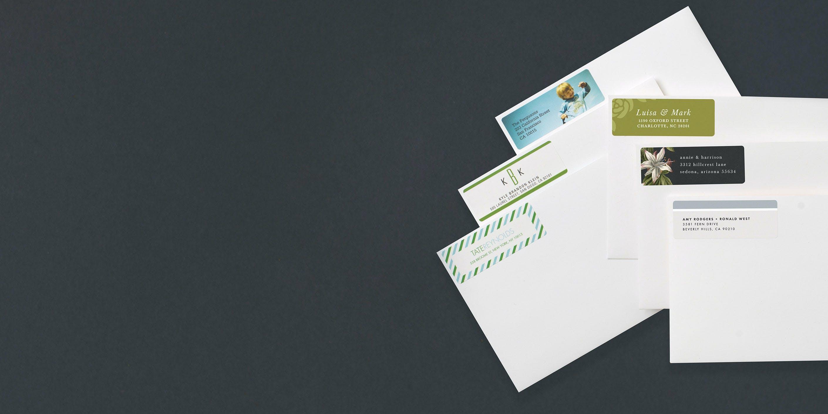 30 Custom Vintage Santa Wishes Personalized Address Labels